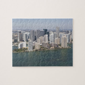 USA, Florida, Miami, Cityscape with coastline 2 Jigsaw Puzzle