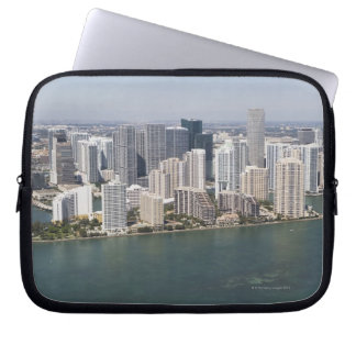 USA, Florida, Miami, Cityscape with coastline 2 Laptop Sleeve