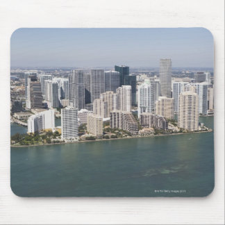 USA, Florida, Miami, Cityscape with coastline 2 Mouse Mat