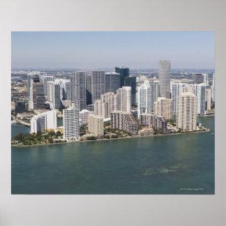 USA, Florida, Miami, Cityscape with coastline 2 Poster