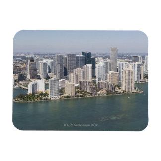 USA, Florida, Miami, Cityscape with coastline 2 Rectangular Photo Magnet