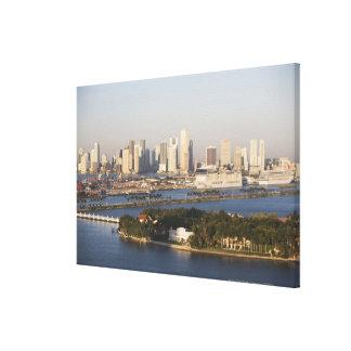 USA, Florida, Miami, Cityscape with coastline Gallery Wrapped Canvas