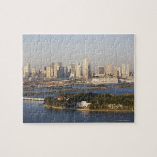 USA, Florida, Miami, Cityscape with coastline Jigsaw Puzzle