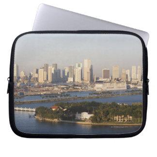 USA, Florida, Miami, Cityscape with coastline Laptop Sleeve