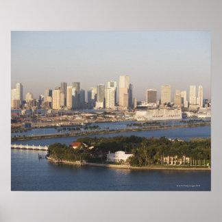 USA, Florida, Miami, Cityscape with coastline Poster