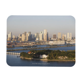 USA, Florida, Miami, Cityscape with coastline Flexible Magnets