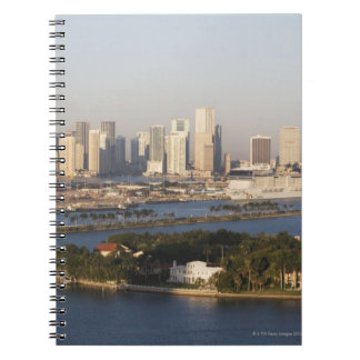 USA, Florida, Miami, Cityscape with coastline Spiral Notebooks