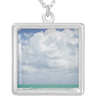 USA, Florida, Miami, Landscape with sea Silver Plated Necklace