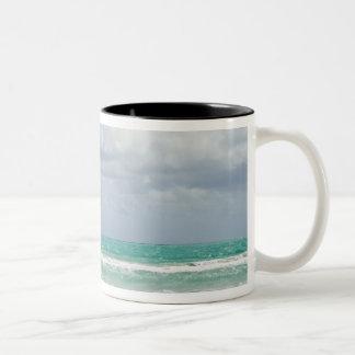 USA, Florida, Miami, Landscape with sea Two-Tone Coffee Mug