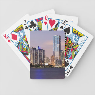 USA, Florida, Miami skyline at dusk 2 Bicycle Playing Cards