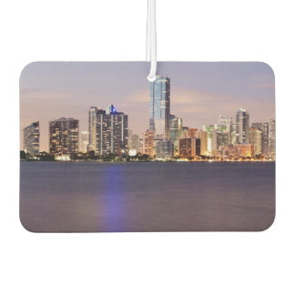 USA, Florida, Miami skyline at dusk 2 Car Air Freshener