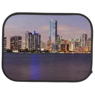 USA, Florida, Miami skyline at dusk 2 Car Mat