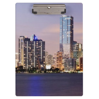 USA, Florida, Miami skyline at dusk 2 Clipboard