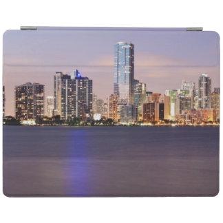USA, Florida, Miami skyline at dusk 2 iPad Cover