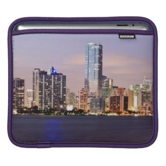 USA, Florida, Miami skyline at dusk 2 iPad Sleeve