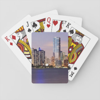 USA, Florida, Miami skyline at dusk 2 Playing Cards
