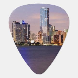 USA, Florida, Miami skyline at dusk 2 Plectrum
