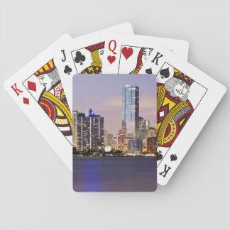 USA, Florida, Miami skyline at dusk 2 Poker Deck