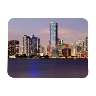 USA, Florida, Miami skyline at dusk 2 Rectangular Photo Magnet