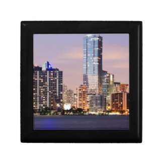 USA, Florida, Miami skyline at dusk 2 Small Square Gift Box