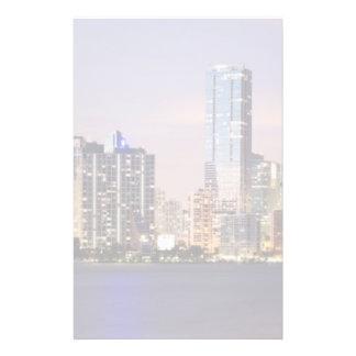 USA, Florida, Miami skyline at dusk 2 Stationery