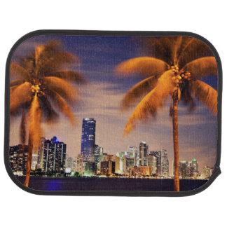 USA, Florida, Miami skyline at dusk Car Mat