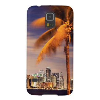 USA, Florida, Miami skyline at dusk Cases For Galaxy S5