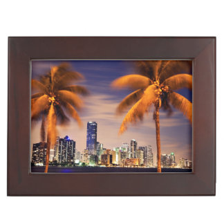 USA, Florida, Miami skyline at dusk Keepsake Box