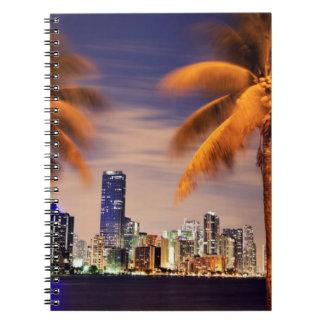 USA, Florida, Miami skyline at dusk Notebook