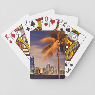 USA, Florida, Miami skyline at dusk Playing Cards