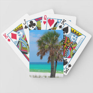 USA, Florida. Palm Trees On Emerald Coast Bicycle Playing Cards