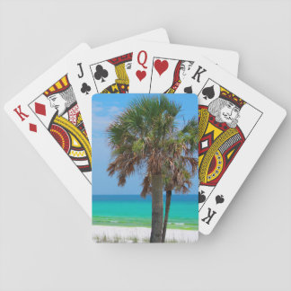 USA, Florida. Palm Trees On Emerald Coast Playing Cards