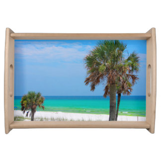 USA, Florida. Palm Trees On Emerald Coast Serving Tray