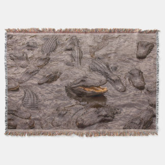 USA, Florida, St. Augustine, Alligators Throw Blanket