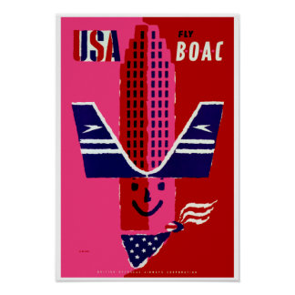 USA Fly BOAC Posters