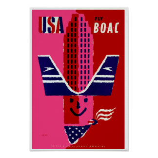 USA Fly BOAC Print