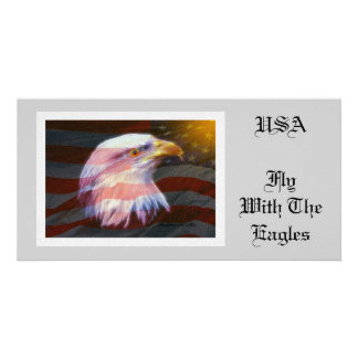 USA Fly With The Eagles Photo Cards