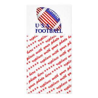 USA Football (1) With Text Photo Cards