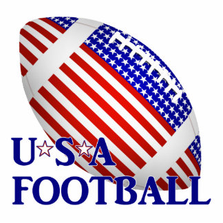 USA Football (1) With Text Acrylic Cut Outs