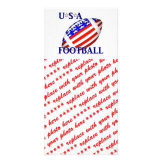 USA Football (2) With Text Photo Greeting Card