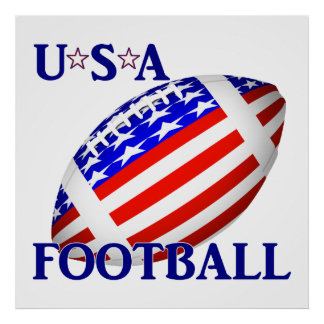 USA Football  With Text Poster