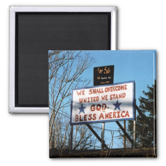 USA For Sale? Square Magnet
