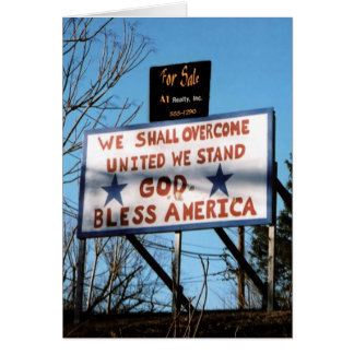 USA For Sale? Vertical Greeting Card II