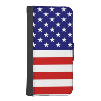 USA Freedom Flag iPhone 5/5s Wallet Case