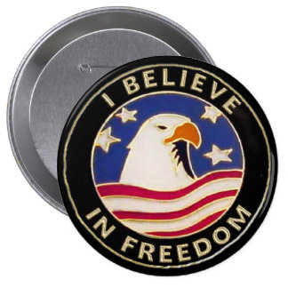 usa freedom Pinback Buttons Backpack or Hat Pin