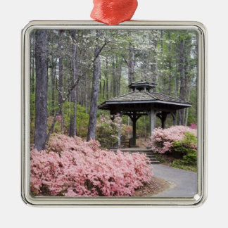 USA, Georgia, Pine Mountain. A gazebo amongst Christmas Ornament