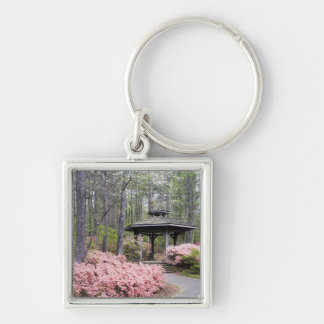 USA, Georgia, Pine Mountain. A gazebo amongst Silver-Colored Square Key Ring