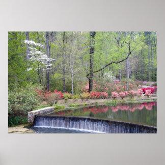 USA, Georgia, Pine Mountain. A small waterfall Poster