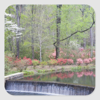 USA, Georgia, Pine Mountain. A small waterfall Square Sticker