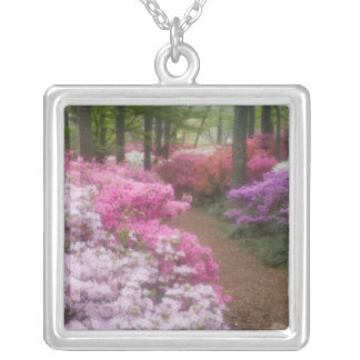 USA; Georgia; Pine Mountain. Azaleas at 2 Silver Plated Necklace